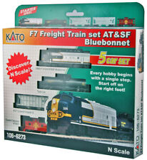 Kato N Freight Train Set with ATSF Bluebonnet F7 Locomotive 1066273