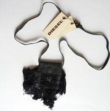 Diesel Sacco collana cuero cuello cadena Necklace negro PVP 30,00 euro