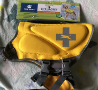 Top Paw Yellow Life Jacket (Size Medium: Dogs 30-55 lbs) New