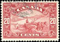 1929 Used Canada 20c F+ Scott #157 King George V Scroll Issue