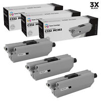 LD Compatible Replacements for Okidata 46508704 Pack of 3 Black Toner Cartridges