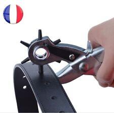PINCE à POINCONNER PERFORATRICE EMPORTE PIECE REVOLVER CUIR CARTON PVC CEINTURE