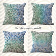 Us Seller-4pcs boho mandala yoga meditation cushion cover decorative bulk lot