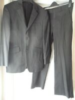 "Jasper Conran men`s black pinstripe 2-piece suit chest size 38"" waist 31"""