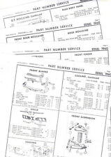 1960 EDSEL RANGER VILLAGER STATION WAGON 60 PART & NUMBERS LIST CRASH SHEETS! RE