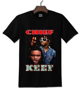 Chief Keef Rap Black T-shirt S - 2XL