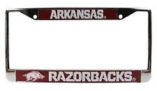 Arkansas Razorbacks 3D Metal Chrome Auto License Plate Frame