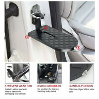Black Metal 2in1 Car Folding Ladder Window Hammer Door Stairs to Roof Accessory