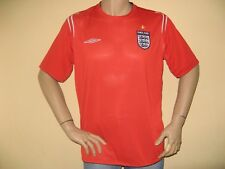 WORN ONCE MENS VINTAGE RED ENGLAND SHORT SLEEVE FOOTBALL SHIRT TOP X/LARGE 2006