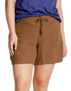 Supplies Sybil Linen Blend Solid Shorts Terrain NWT $48
