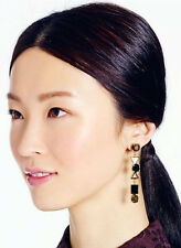 Kate Spade New York Ipanema Tile Drop Earrings black natural gold mod art