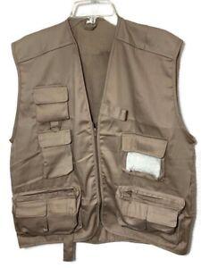Cortland Men's Fly Fishing Vest Lightweight Khaki Size Med/Lrg New Package