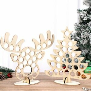 Xmas Wooden Advent Calendar Christmas Party Chocolate Holder Frame Decoration