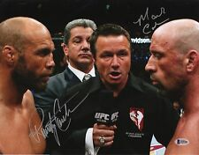 Mark Coleman & Randy Couture Signed UFC 11x14 Photo BAS Beckett COA 109 Picture