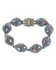 New Atelier Swarovski Mosselle Black Orange Swarovski Crystal Bracelet MSRP $499