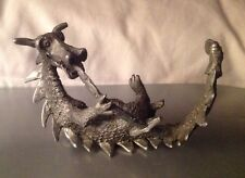 Rare Gallo Pewter Sword Swallowing Dragon
