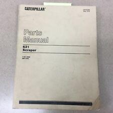 CAT Caterpillar 631 PARTS MANUAL BOOK CATALOG SCRAPER GUIDE 11G1-3286 28F1-964