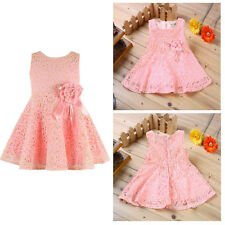 Baby Girl Clothes Kids Baby Pretty Top Lace Princess Dresses Party Dress 3-6M