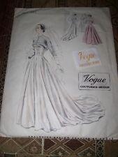 1950 VOGUE COUTURIER DESIGN #545-LADIES BRIDAL~BALL ROOM GOWN PATTERN 14 w/LABEL