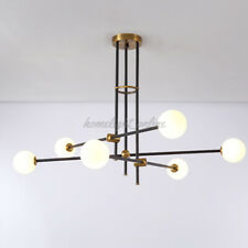 Modern Glass Globes Chandelier 6 Light Bubble Pendant Lamp Ceiling Light Fixture