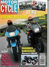 MCI 99 Aug1993 BMW K1100RS R1100RS Ducati 750SS Guzzi Targa Z1 Special W12