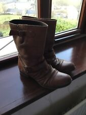River Island Slouch Leather Boots 6