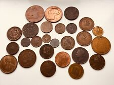 Group of world coins & tokens