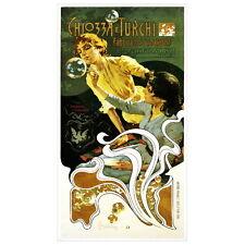Chiozza e Turchi Soap Ad Poster Deco Magnet, 1899 Art Nouveau Fridge Magnet