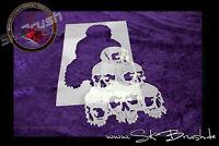 Airbrush Skull Totenkopf Schädelhaufen Schablone - Pile of Skulls Stencil