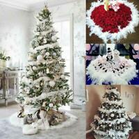 2M Christmas Tree White Feather Xmas Ribbon Strip Party Garland Decor