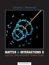 Matter and Interactions II: Electric and Magnetic Interactions, Ruth W. Chabay,