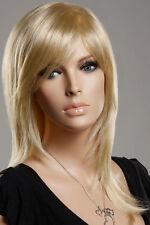 NEWJF223 fashion medium blonde straight health hair wigs for women wig