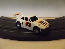 TYCO VINTAGE #13 WHITE PORSCHE HO SLOT CAR With CURVEHUGGER HP-2 CHASSIS