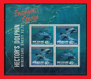 ZAYIX - 1991 New Zealand B140a MNH - Marine Life / Dolphins miniature sheet