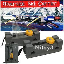 Riverside Multi Use Ski- Carrier Kit-Roof Car Mount Non-Skid Foam Mount 2-Skis
