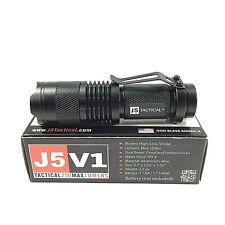 J5 V1 Tactical Flashlight Torch Camp Hurricane Emergency Pocket EDC 250 Lumens