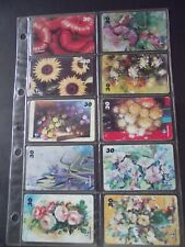 FLOWERs 1999 Set of 16 Different Phone Cards from Brazil
