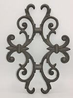 Romantisch Ornament nostalgisch Gitter Wand Bauelement Rost Gusseisen Metall