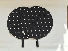 Chef Pads for Aga Ranges, PAIR, Black and White Spot,100% cotton, washable