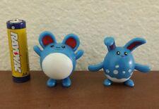 2nd Generation pokemon plastic figure set Marill Azumarill 1-2 inches U.S Seller