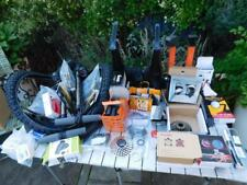 Collection of new and used bicycle accessories lights pumps gears etc