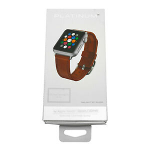 Platinum Genuine Leather Band Watch Strap for Apple Watch 38mm / 40mm   Papaya