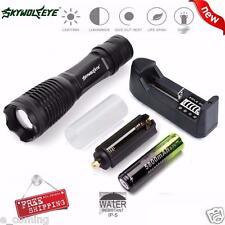 5000LM XM-L T6 LED Zoomable táctico de la linterna de la lámpara+18650+cargador