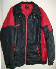 Men's Motorcycle Jacket - (BLACK & RED) - Size XL - AS NEW