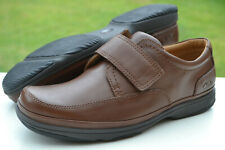 Clarks Mens Flexlight Shoes SWIFT TURN Brown Leather UK 9.5 / 44