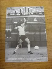 10/01/1987 Fulham v Swindon Town [FA Cup] . Item appears to be in good condition