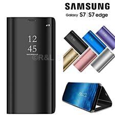 FLIP COVER CUSTODIA Clear View Per Samsung Galaxy S7 / EDGE + PELLICOLA OMAGGIO
