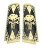 1911 fits Colt & Clones GRIPS Skull Scroll Scrimshaw Faux Ivory PUNISHER