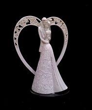 White Wedding Cake Topper- Eternity by Gina Freehill- Romantic White Heart! NIB!
