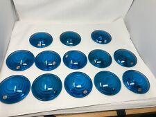 Kopp Glass blue railroad switch lantern lens glass 5 3/8 L x 3 1/2 F  ($ eachl)